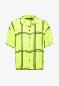 Jaded London - SHORT SLEEVE CHECK SHIRT - Koszula - neon yellow - 3