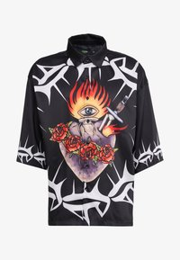 Jaded London - SACRED HEART OVERSZIED SHORT SLEEVE  - Overhemd - black - 3