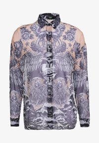 Jaded London - GOTHIC TATTOO SHEER LONG SLEEVE SHIRT - Košile - sheer - 4