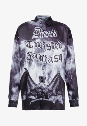 GOTHIC NIGHT LONG SLEVE OVERSIZED - Koszula - black