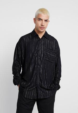 PINSTRIPE LONG SLEEVE  - Camicia - black