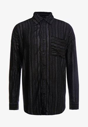 PINSTRIPE LONG SLEEVE  - Skjorte - black