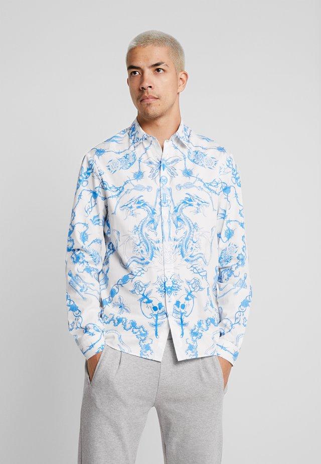 VINTAGE TATOO LONG SLEEVE SHIRT - Hemd - white