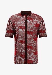 Jaded London - SHEER FLOCKED DRAGON SHIRT - Camicia - red - 3