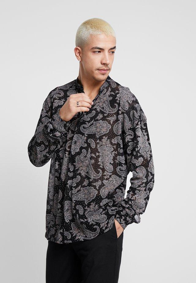 GLITTERY PAISLEY SHIRT - Hemd - black