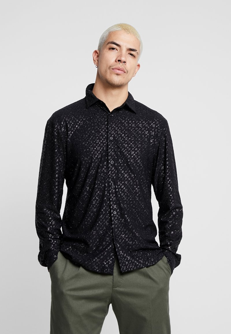 Jaded London - SPECKLED GLITTER  - Camicia - black
