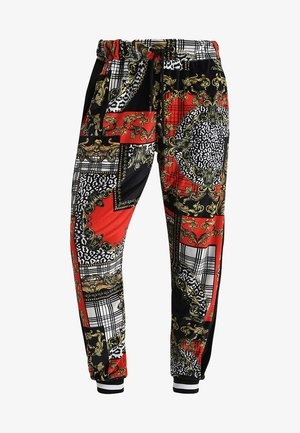 BAROQUE PATCHWORK JOGGER - Teplákové kalhoty - red/white