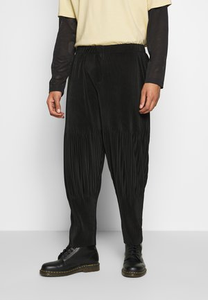 PLISSE TROUSER - Stoffhose - charcoal