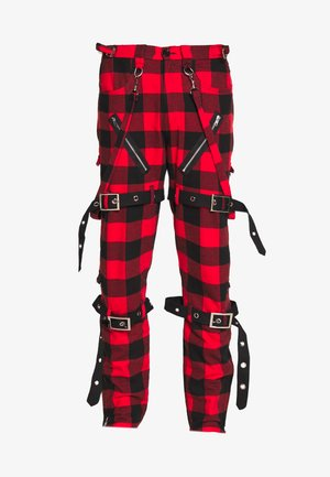 PUNK  - Stoffhose - red