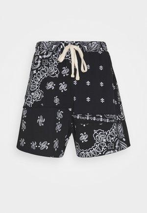 CUT AND SEW PAISLEY - Shorts - black