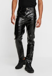 Jaded London - CROC - Pantalon classique - black - 0