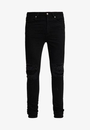 DISTRESSED SKINNY  - Jeans Skinny Fit - black