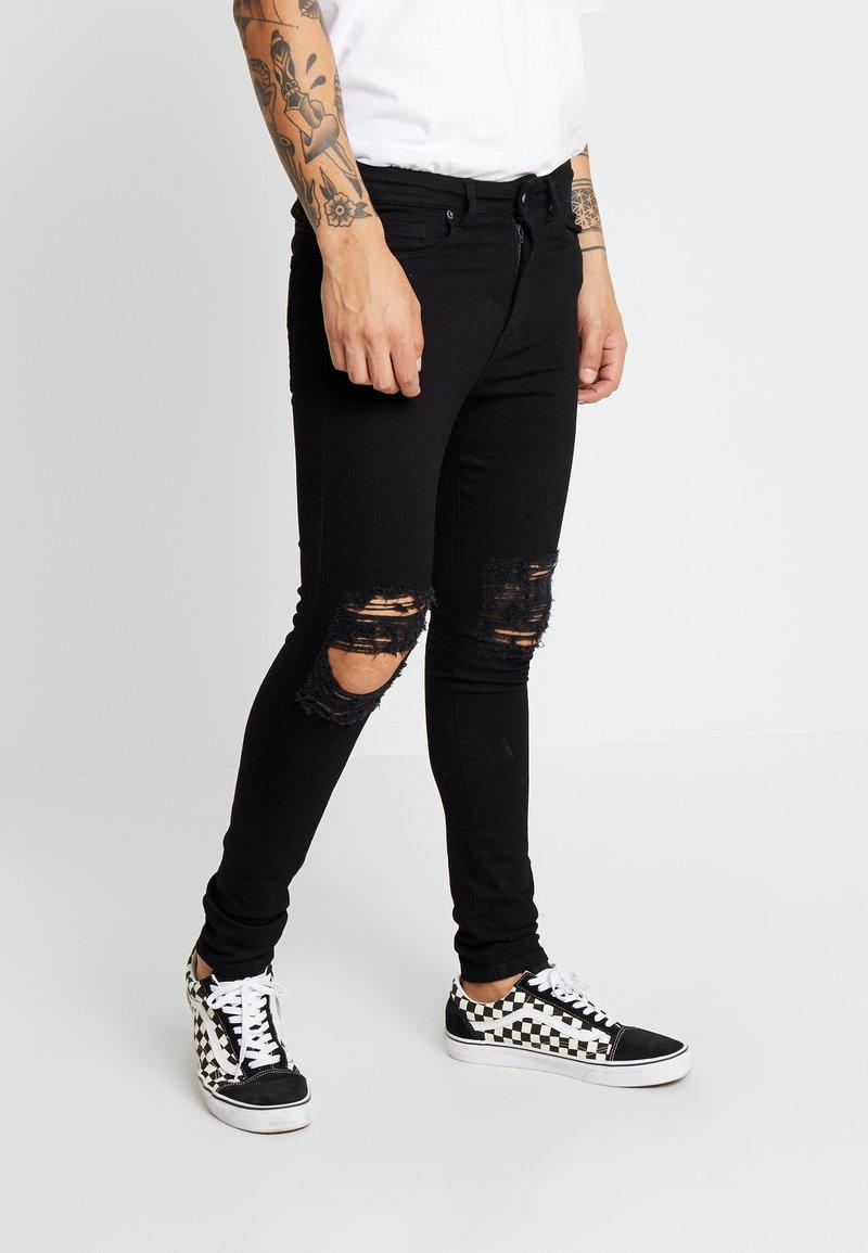 Jaded London - DISTRESSED SKINNY  - Jeans Skinny Fit - black