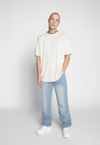 Jaded London - DISTRESSED SKATE - Džíny Relaxed Fit - mid blue wash - 1