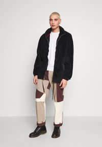 Jaded London - PATCHWORK DETAIL SKATE - Jeans relaxed fit - brown - 1