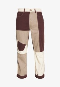 Jaded London - PATCHWORK DETAIL SKATE - Jeans relaxed fit - brown - 3