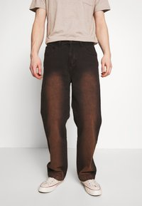 Jaded London - SAND BLAST EFFECT SKATE  - Jeans relaxed fit - black - 0