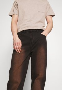Jaded London - SAND BLAST EFFECT SKATE  - Jeans relaxed fit - black - 3