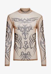 Jaded London - NUDE TRIBAL TOP - T-shirt à manches longues - nude - 3