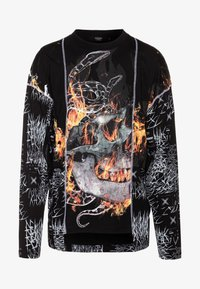 Jaded London - CUT AND SEW SKULL FLAME TOP - T-shirt à manches longues - black - 3