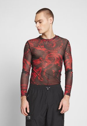 SPACE GAME TOP - Long sleeved top - red