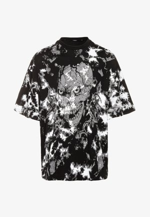 ACID SKULL OVERSIZED - T-shirt z nadrukiem - black