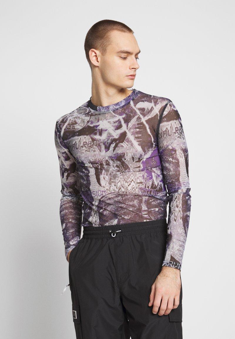 Jaded London - PYSCHEDLIC COLLAGE TOP - Long sleeved top - purple