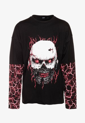 CUT AND SEW EAGLE SKULL  - Longsleeve - black