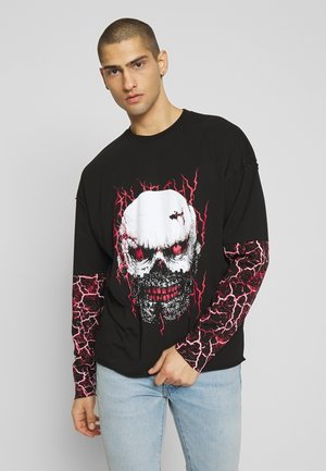CUT AND SEW EAGLE SKULL  - Maglietta a manica lunga - black