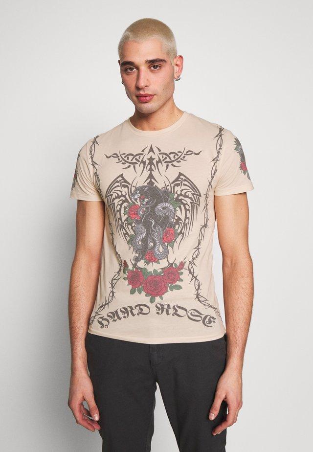 TATTOO - T-shirts med print - beige