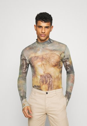 HIGH NECK RENAISSANCE - Long sleeved top - beige