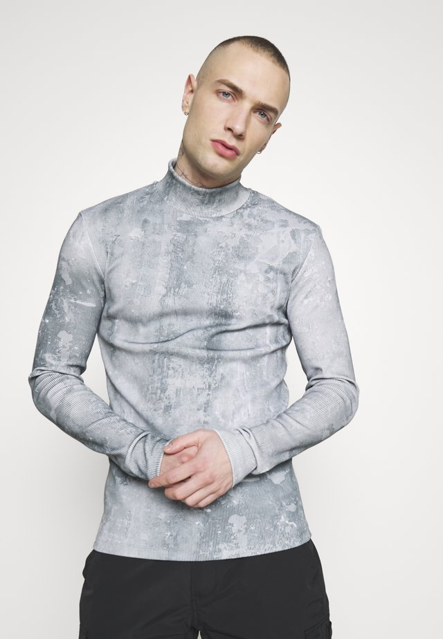 SEAMLESS HIGHNECK CONCRETE - Long sleeved top - concrete