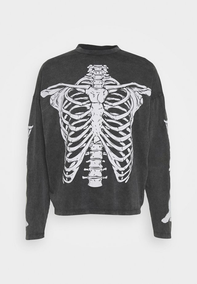WASHED RIBCAGE  - Langærmede T-shirts - black