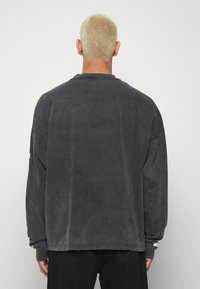 Jaded London - WASHED RIBCAGE  - Maglietta a manica lunga - black - 2