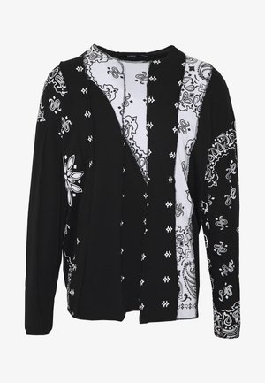 CUT AND SEW PAISLEY  - Top s dlouhým rukávem - black