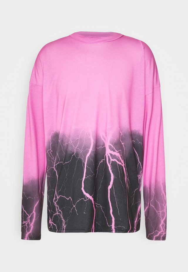 OMBRE LIGHNING  - Maglietta a manica lunga - pink