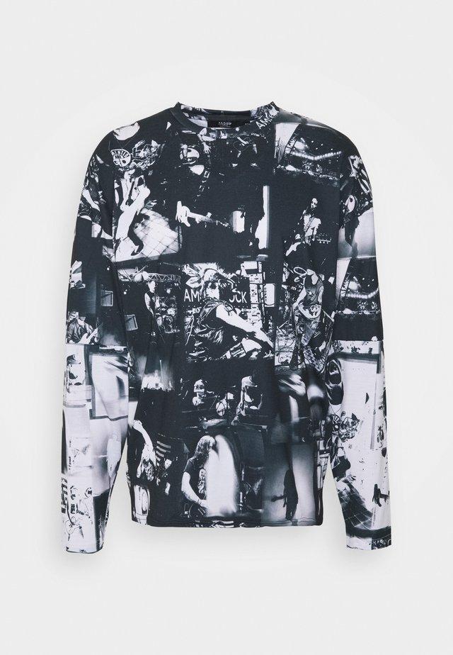 INVERTED PUNK ROCK COLLAGE TEE - Maglietta a manica lunga - black