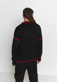 Jaded London - EVIL OVERSIZED JUMPER - Strikkegenser - black - 2