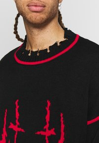 Jaded London - EVIL OVERSIZED JUMPER - Strikkegenser - black - 3
