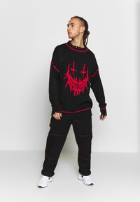 Jaded London - EVIL OVERSIZED JUMPER - Strikkegenser - black - 1