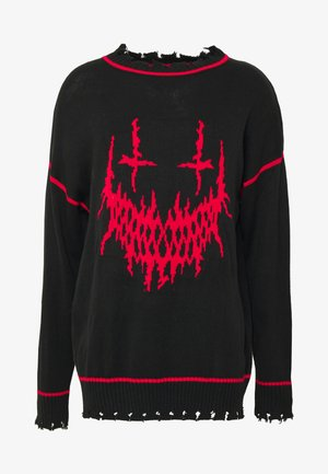 EVIL OVERSIZED JUMPER - Pullover - black