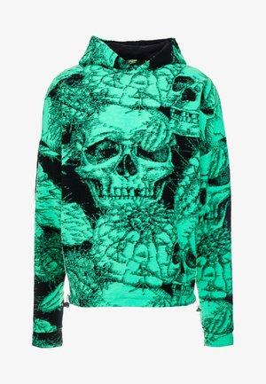 SKULL HOODIE - Bluza z kapturem - green