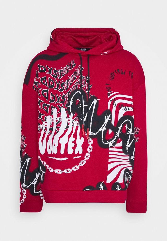 VORTEX GRAFFITI HOODIE - Sweat à capuche - red