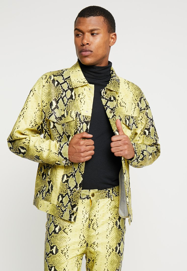 Jaded London - SNAKE JACKET - Faux leather jacket - yellow