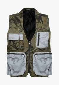 Jaded London - UTILITY CAMO POCKET VEST - Vest - green - 5
