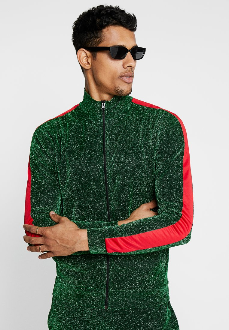 Jaded London - PANEL TRACKTOP - Training jacket - green