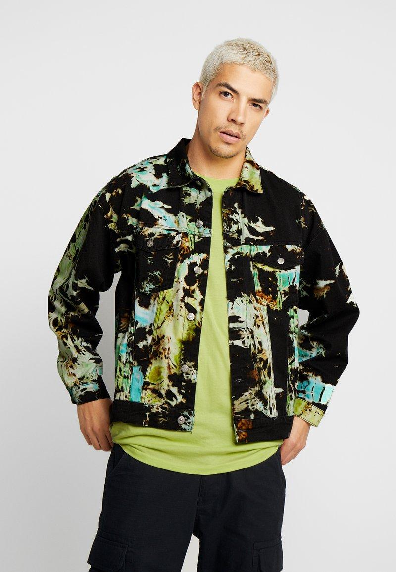 Jaded London - TIE DYE  - Denim jacket - black