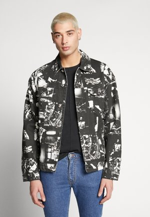 PUNK ROCK PHOTOGRAPH JACKET - Spijkerjas - black