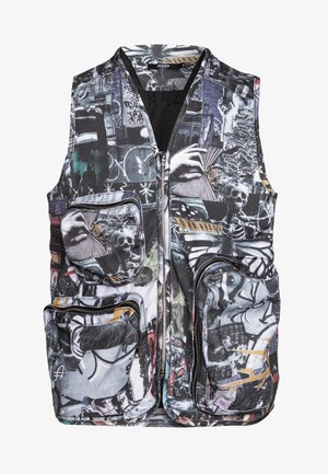 COLLAGE UTILITY VEST - Veste sans manches - multi