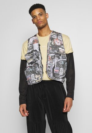 COLLAGE UTILITY VEST - Väst - multi